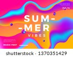 summer abstract gradient... | Shutterstock .eps vector #1370351429