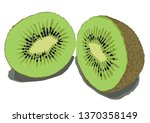 kiwi fruit vector design | Shutterstock .eps vector #1370358149