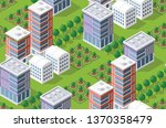 seamless urban plan pattern map.... | Shutterstock .eps vector #1370358479