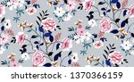 seamless floral pattern in... | Shutterstock .eps vector #1370366159