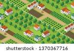 isometrics village seamless... | Shutterstock .eps vector #1370367716