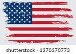grunge american flag.vintage... | Shutterstock .eps vector #1370370773