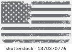 grunge american flag.vintage... | Shutterstock .eps vector #1370370776