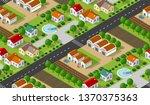 isometrics village seamless... | Shutterstock .eps vector #1370375363