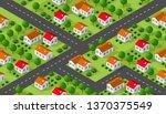 isometrics village seamless... | Shutterstock .eps vector #1370375549