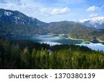 aerial view of eibsee  lake in... | Shutterstock . vector #1370380139