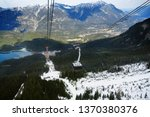 ropeway gondola to the top of... | Shutterstock . vector #1370380376