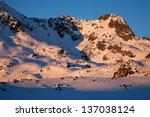 sunset light in national park... | Shutterstock . vector #137038124