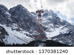 ropeway to the top of the... | Shutterstock . vector #1370381240