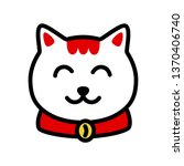 muzzle maneki neko vector... | Shutterstock .eps vector #1370406740