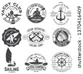 set of sailing camp  yacht club ... | Shutterstock .eps vector #1370416409
