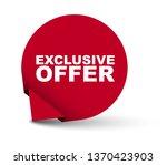red vector banner exclusive...   Shutterstock .eps vector #1370423903