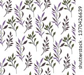 texture with flowers and plants.... | Shutterstock .eps vector #1370426639