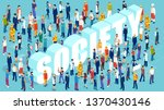professional society concept.... | Shutterstock .eps vector #1370430146