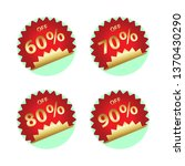 round price tag   Shutterstock . vector #1370430290
