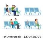 passengers in departure lounge...   Shutterstock .eps vector #1370430779