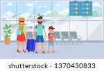 family in airport terminal flat ... | Shutterstock .eps vector #1370430833