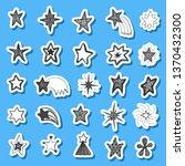 set of hand drawn vector stars...   Shutterstock .eps vector #1370432300