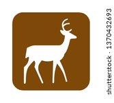brown deer viewing area... | Shutterstock . vector #1370432693