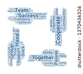 unity word cloud. tag cloud... | Shutterstock .eps vector #1370436326