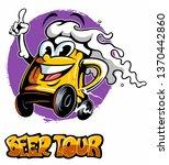 cartoon style funny beer mug ... | Shutterstock .eps vector #1370442860