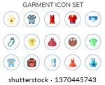 garment icon set. 15 flat... | Shutterstock .eps vector #1370445743