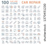 set of vector line icons of car ... | Shutterstock .eps vector #1370451230