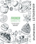 a set of french desserts with... | Shutterstock .eps vector #1370459459