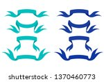ribbons fashion blue colors | Shutterstock .eps vector #1370460773