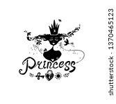 princess. original vector logo. ... | Shutterstock .eps vector #1370465123