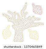 mesh autumn tree polygonal 2d... | Shutterstock .eps vector #1370465849