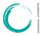 circle brush stroke vector...   Shutterstock .eps vector #1370468753