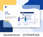landing page web survey concept ... | Shutterstock .eps vector #1370469266