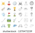 golf and attributes cartoon... | Shutterstock .eps vector #1370472239