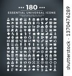 180 essential icons  computer ... | Shutterstock .eps vector #1370476289