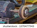 leather edge burnisher machine. ...   Shutterstock . vector #1370477543