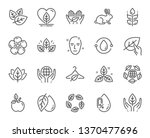 organic cosmetics line icons.... | Shutterstock .eps vector #1370477696