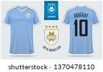 set of soccer jersey or... | Shutterstock .eps vector #1370478110