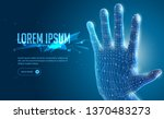 abstract 3d polygonal wireframe ... | Shutterstock .eps vector #1370483273