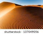Sunlit Namibian Desert Dunes...