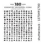 180 universal set icons  ...   Shutterstock .eps vector #1370491700