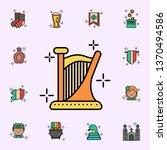 Harp  Instrument Icon. St...