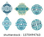 gin badgets set. vector layered | Shutterstock .eps vector #1370494763