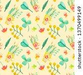 seamless pattern of watercolor... | Shutterstock . vector #1370499149