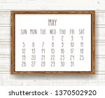 may year 2019 vector monthly... | Shutterstock .eps vector #1370502920
