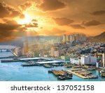 Cityscape of Busan, South Korea - stock photo