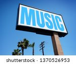 aged vintage music sign         ... | Shutterstock . vector #1370526953