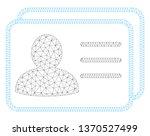 mesh account cards polygonal... | Shutterstock .eps vector #1370527499