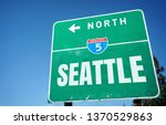 interstate 5 seattle sign       ... | Shutterstock . vector #1370529863