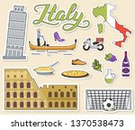 country italy travel vacation... | Shutterstock .eps vector #1370538473